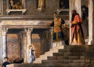 Tiziano Vecellio (Titian) - Presentation of the Virgin at the Temple (detail 3)