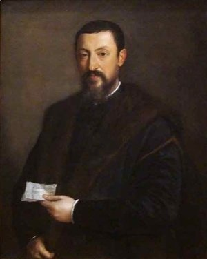 Tiziano Vecellio (Titian) - Portrait of a Friend of Titian