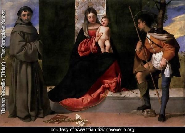 Madonna and Child with Sts Anthony of Padua and Roch 2