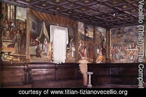 Tiziano Vecellio (Titian) - View of the Sala Capitolare