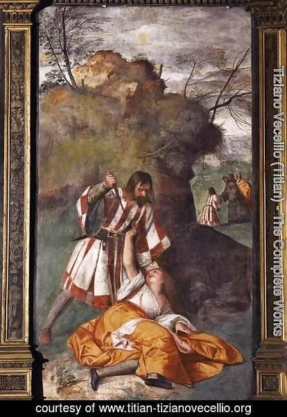 Tiziano Vecellio (Titian) - The Miracle of the Jealous Husband 2