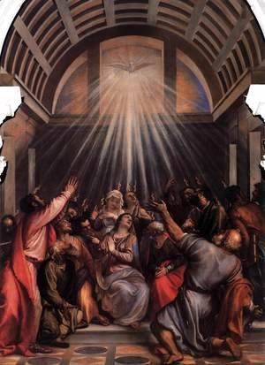 Tiziano Vecellio (Titian) - The Descent of the Holy Ghost 2