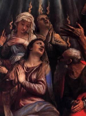 Tiziano Vecellio (Titian) - The Descent of the Holy Ghost (detail) 2