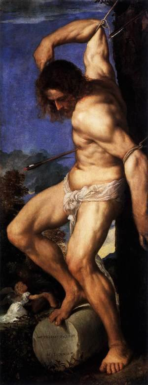 Tiziano Vecellio (Titian) - Polyptych of the Resurrection St Sebastian
