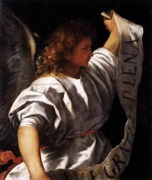 Tiziano Vecellio (Titian) - Polyptych of the Resurrection Archangel Gabriel