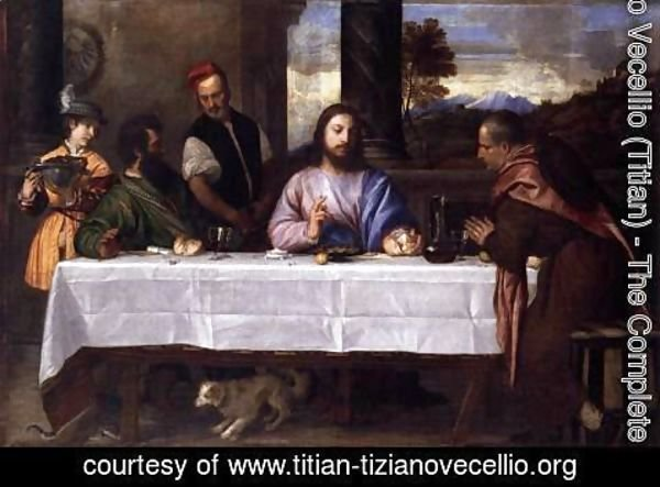 Tiziano Vecellio (Titian) - Supper at Emmaus 2