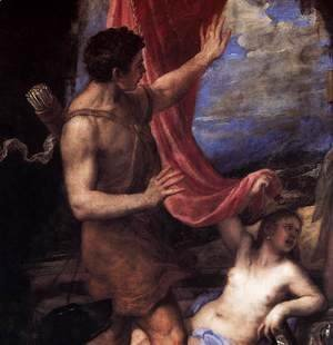 Tiziano Vecellio (Titian) - Diana and Actaeon (detail) 2