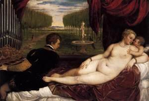 Tiziano Vecellio (Titian) - Venus with Organist and Cupid