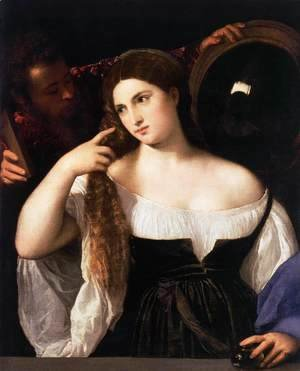 Tiziano Vecellio (Titian) - Woman with a Mirror 2