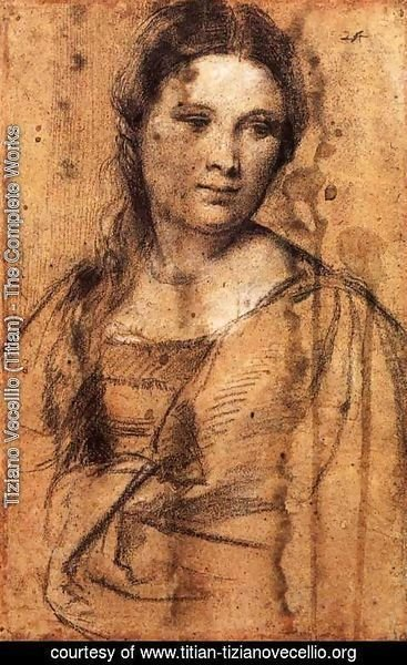 Tiziano Vecellio (Titian) - Portrait of a Young Woman