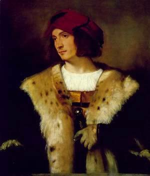 Tiziano Vecellio (Titian) - Portrait of a Man in a Red Cap