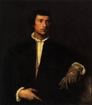 Tiziano Vecellio (Titian) - Man with a Glove 2