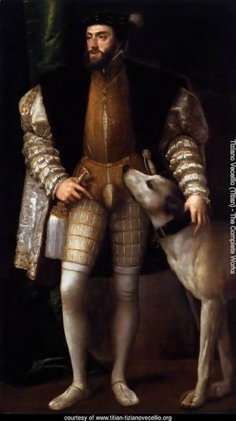 Charles V Standing with His Dog 2