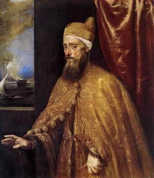 Tiziano Vecellio (Titian) - Portrait of the Doge Francesco Venier 2