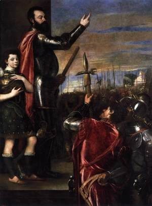 Tiziano Vecellio (Titian) - The Marchese del Vasto Addressing his Troops 2