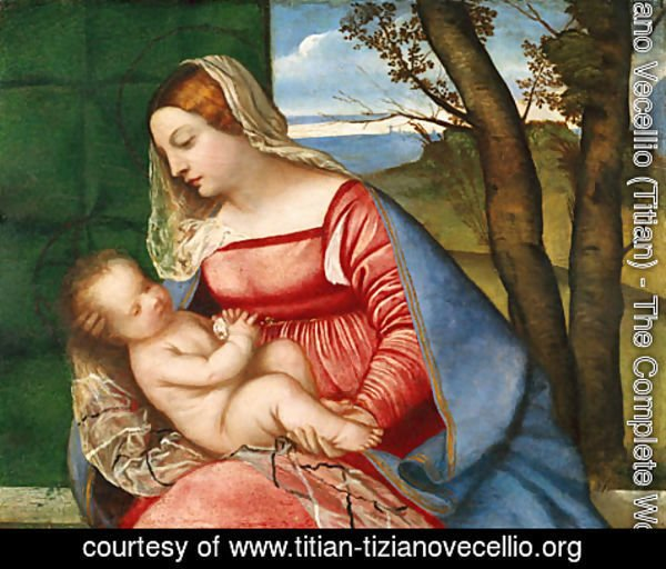 Tiziano Vecellio (Titian) - Madonna and Child ca 1510