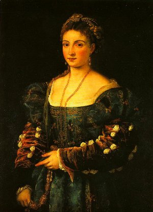 Tiziano Vecellio (Titian) - Portrait of a Woman (La Bella)
