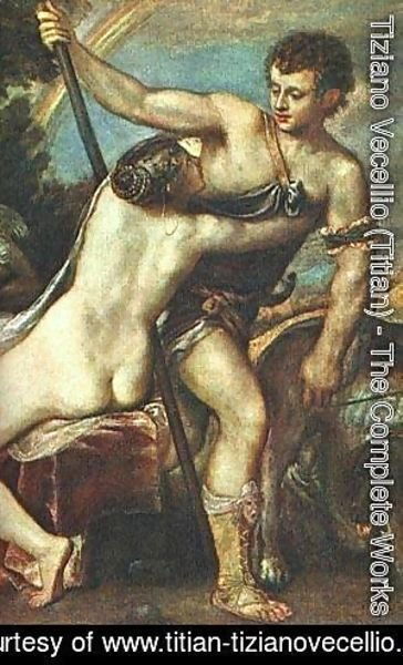Tiziano Vecellio (Titian) - Venus And Adonis Detail After 1560