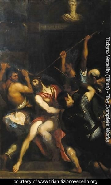 Tiziano Vecellio (Titian) - The mocking of Christ