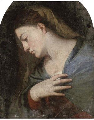 Tiziano Vecellio (Titian) - The Virgin Annunciate, a fragment