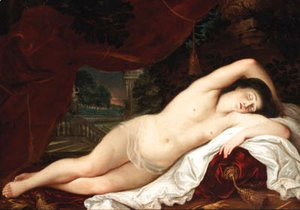 Tiziano Vecellio (Titian) - The sleeping Venus