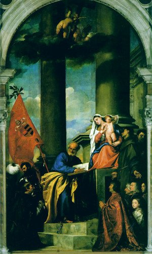 Tiziano Vecellio (Titian) - Madonna With Saints And Members Of The Pesaro Family