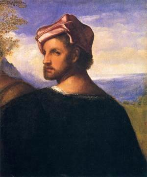 Tiziano Vecellio (Titian) - Head of a Man