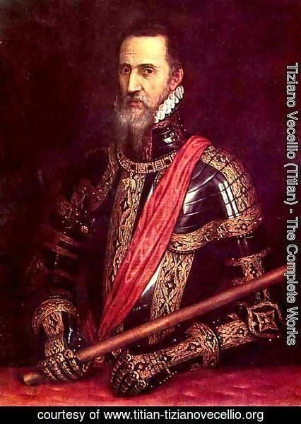 Tiziano Vecellio (Titian) - Portrait of Don Fernando Alvarez of Toledo, Grand Duke of Alba
