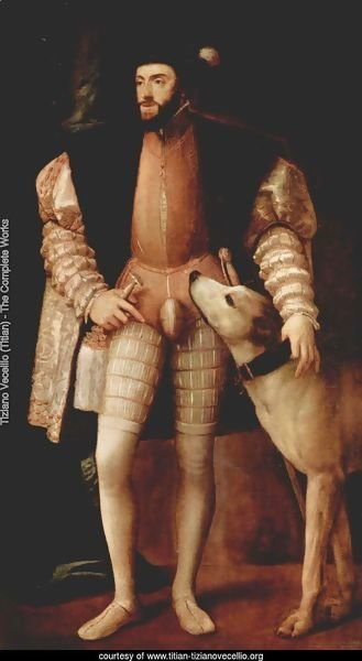 Portrait of Emperor Charles V with dog