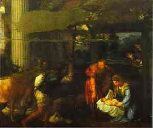Tiziano Vecellio (Titian) - Adoration of the Shepherds