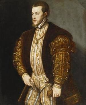 Tiziano Vecellio (Titian) - Philip II of Spain