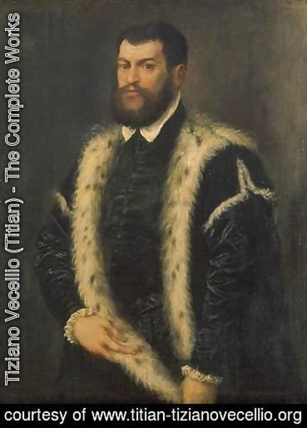 Portrait of a man with ermine coat