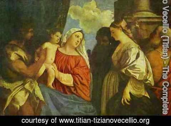 Tiziano Vecellio (Titian) - The Virgin and Child with Four Saints