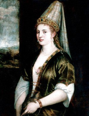 Tiziano Vecellio (Titian) - The Red Sultana