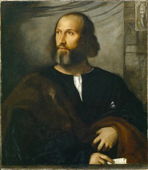 Tiziano Vecellio (Titian) - Portrait of a Bearded Man