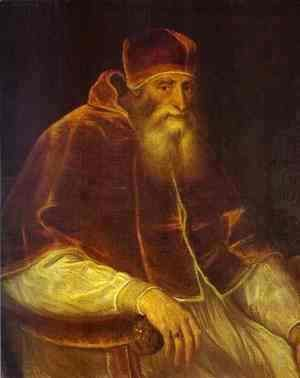 Tiziano Vecellio (Titian) - Portrait of Pope Paul III 2