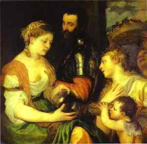 Tiziano Vecellio (Titian) - Marriage with Vesta and Hymen as Protectors and Advisers of the Union of Venus and Mars
