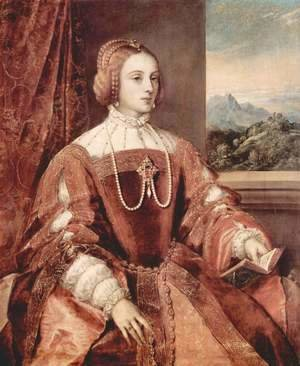 Tiziano Vecellio (Titian) - Portrait of Isabella of Portugal, wife of Holy Roman Emperor Charles V