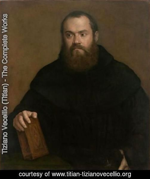 Tiziano Vecellio (Titian) - A monk with a book