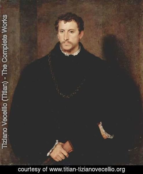 Tiziano Vecellio (Titian) - Portrait of a Young Man (The young Englishman)
